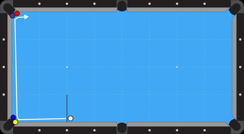 Corner to corner trick shot