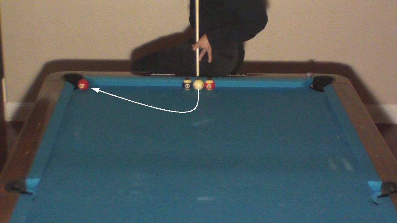 Trick Shot Tim Straight Away Masse Pool Billiards Trick Shots - Masse pool table
