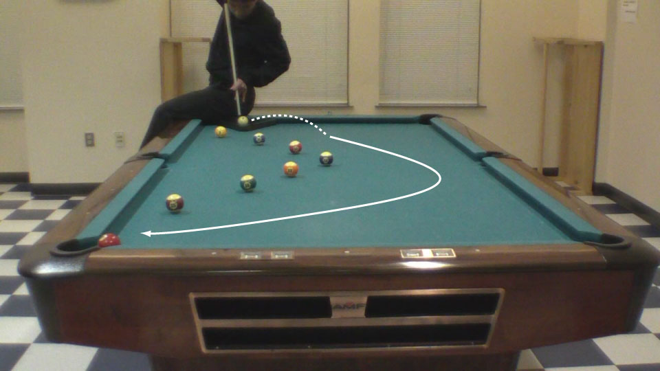 Trick Shot Tim Rainbow Jump Masse Pool Billiards Trick Shots - Masse pool table
