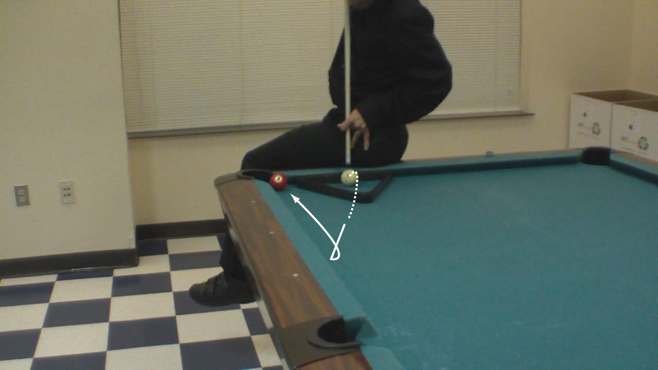 Trick Shot Tim Vertical Jump Masse Pool Billiards Trick Shots - Masse pool table