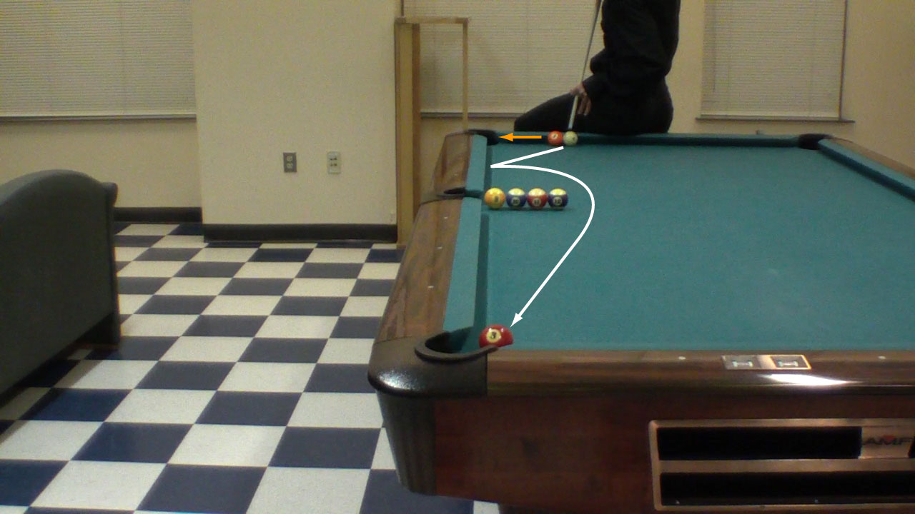 Trick Shot Tim Pelingas Double Masse Pool Billiards Trick Shots - Masse pool table