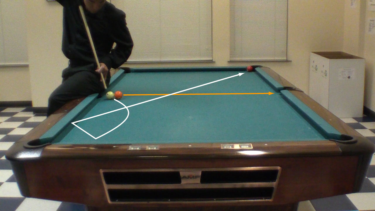 Trick Shot Tim Resistance Two Rail Masse Pool Billiards Trick - Masse pool table